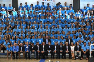 Authorities, leaders and young athletes, together for the future of sport.